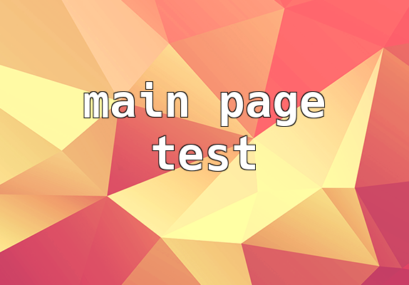 Mainpage teszt