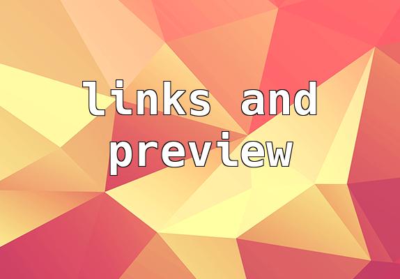 Linkek és preview