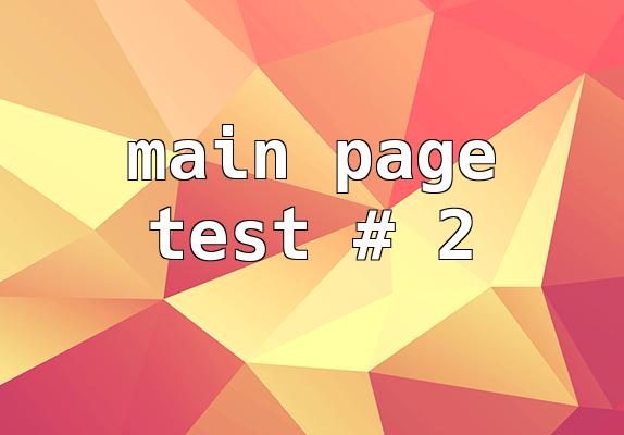 Mainpage teszt #2