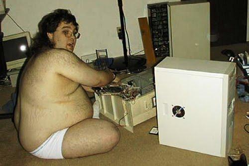 fat computer geek